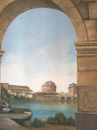Suites Trastevere: The bed head mural