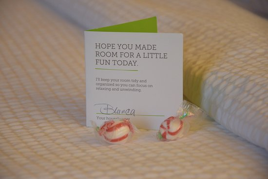 Courtyard by Marriott Houston Brookhollow: This small card doubles as tip envelope for housekeeping...clever!