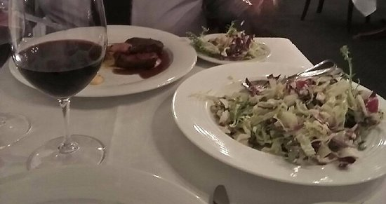 Norwood, Australia: Beef tenderloin with that delicious salad