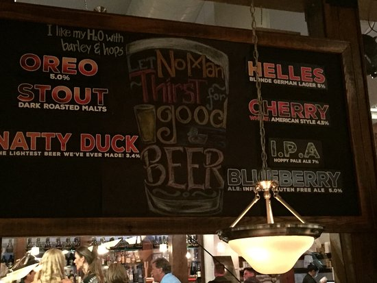 Dowell, MD: Beer specials board