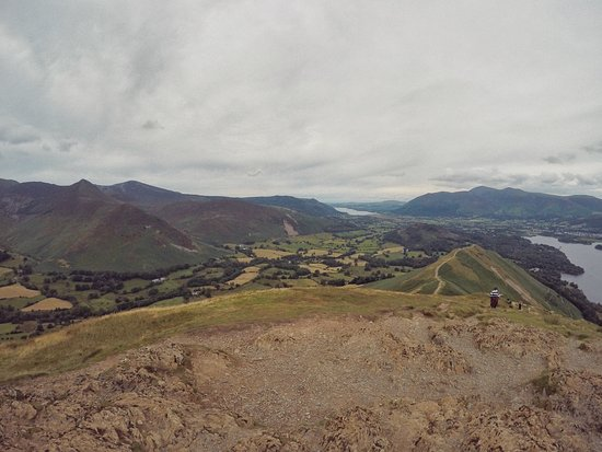 Catbells Lakeland Walk: View from the top of the peak beyond Catbells.
