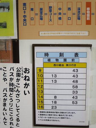 Musashi Kyuryo National Government Park : ハーブ園22 トレイン時刻表
