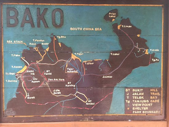 map of Bako - Picture of Ooo Haa Tours & Travel, Kuching - TripAdvisor