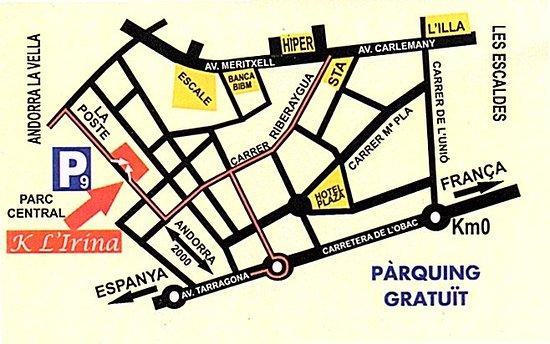 Mapa Situacion Picture Of K L Irina Andorra La Vella Tripadvisor