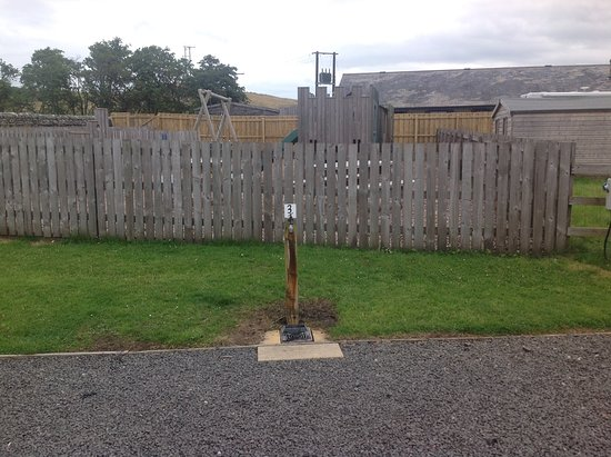 Haltwhistle, UK: Super pitch 3 view of play area