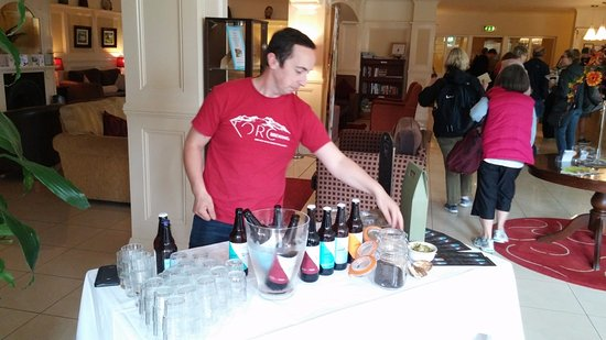 Riverside Hotel Killarney: craft beer tasting, Riverside Hotel, Killarney, July 2016