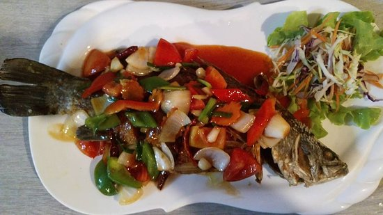 Recipe for sweet and sour whole fish for Fried fish restaurants