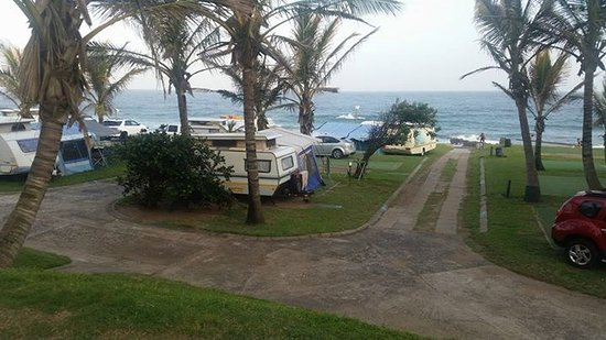 Salt Rock, Sydafrika: our caravan site