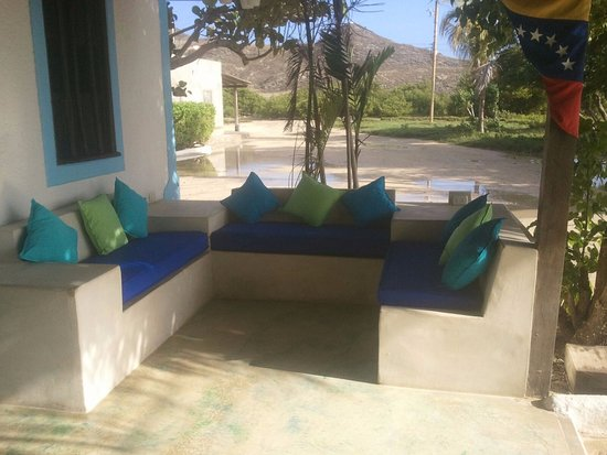 Posada Acuario: terraza