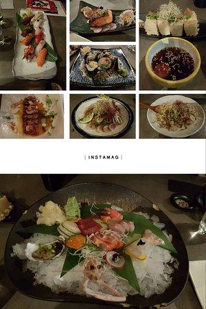Drummoyne, أستراليا: sushi, sashimi, lobster roll, tofu, beef tataki, etc