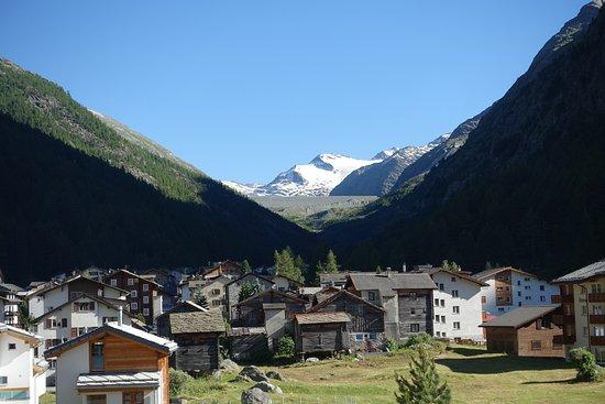 Saas-Almagell, سويسرا: Sicht vom Zimmerbalkon