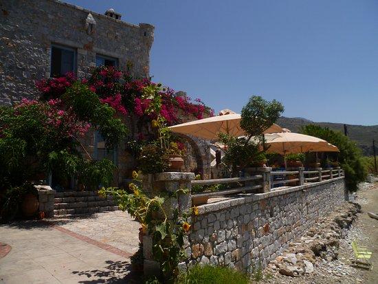 Oitylo, กรีซ: Terrasse, direkt am Meer