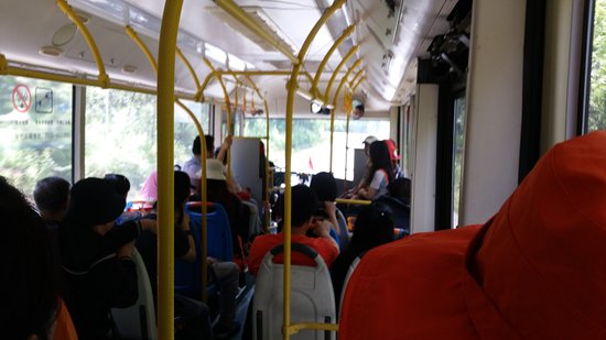 Baishan, Çin: bus will travel full, no standing. buckle up