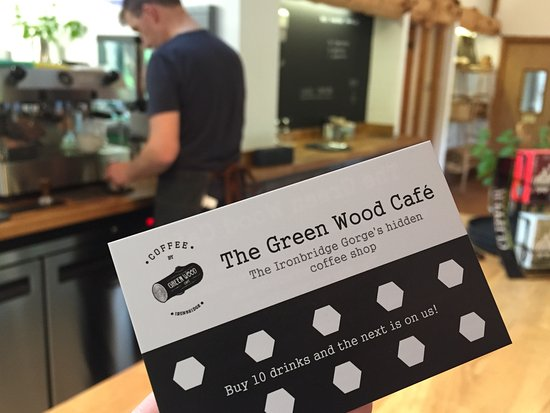 Coalbrookdale, UK: Get a stamp for ANY drink purchased to fill up your loyalty card for a free drink.