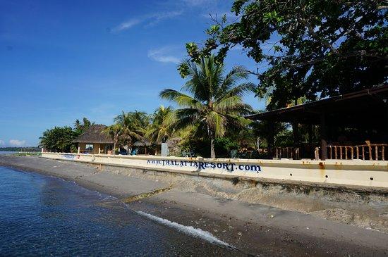 Zamboanguita, Philippinen: Thalatta Resort view from the water.
