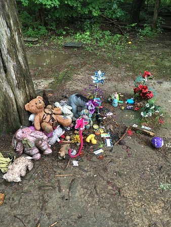 Martinsville, IN: Stepp Cemetery-Odd...people leaving alot of toys on a very old grave