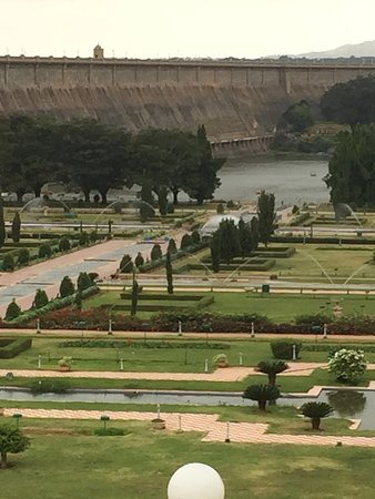 Royal Orchid Brindavan Gardens: View of KRS dam from the hotel room