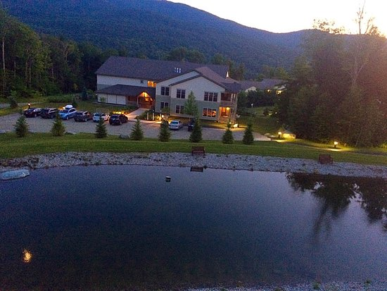 Jeffersonville, VT: Evening view from our balcony