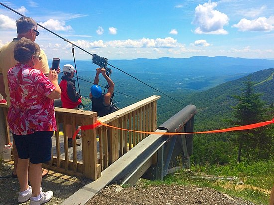 Jeffersonville, VT: Zip line at Stowe