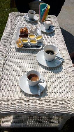 Treiso, Italia: Il caffè dalla magnifica terrazza panoramica