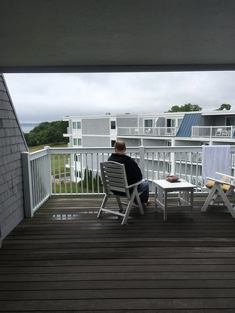 Rockport, ME: sheltered deck so you can sit out even in the rain