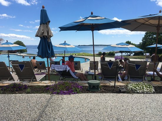 Rockport, ME: beautiful view of ocean from poolside