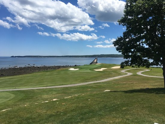 Rockport, ME: golf course and view