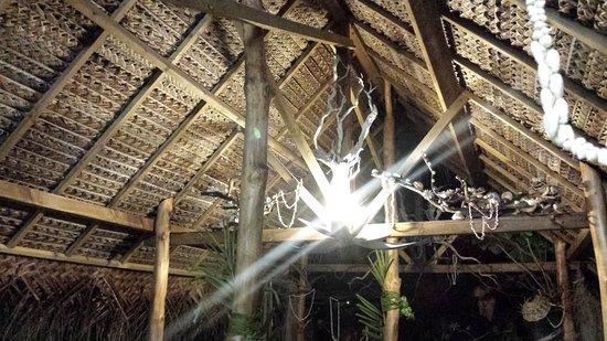 Tuherahera, Polinesia Francesa: Déco de la terrasse