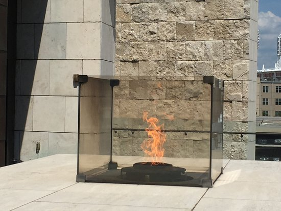 National Underground Railroad Freedom Center: Freedom's Eternal Flame on the roof deck at the Museum.