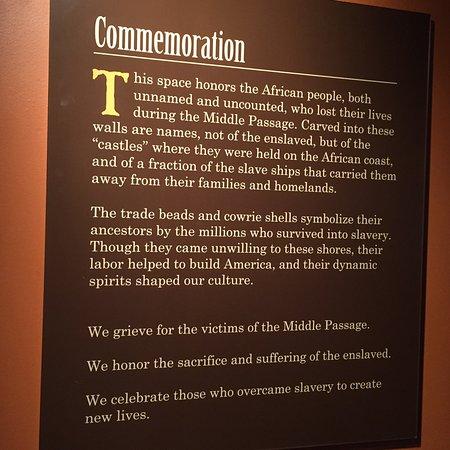National Underground Railroad Freedom Center: The sign introducing a commemoration space in the From Slavery to Freedom permanent exhibition.