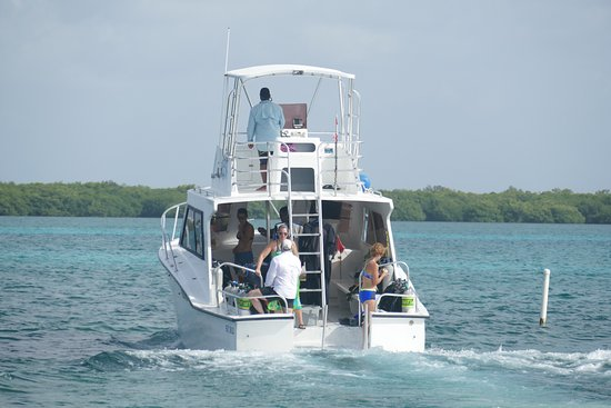 Turneffe Flats: Dive boat