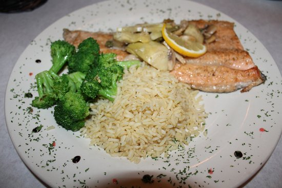 Serenity Bistro: Trout Escalop-old tasting-even look at the lemon