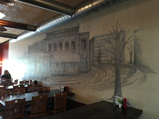 Clarkesville, Τζόρτζια: Mural on one wall of the restaurant
