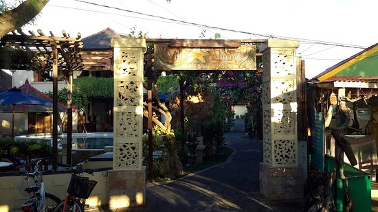 Villa Almarik Resort Lombok: The Beach In Front of Villa, Villa Almarik Gate and Its Cafe Beside The Beach