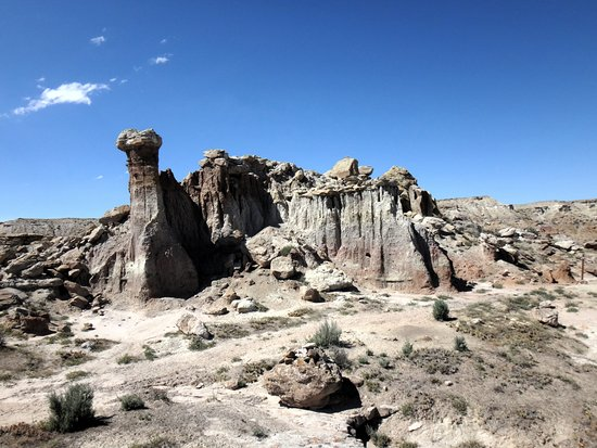 "Worland, WY: ""Camel Rock"" as seen on the Gooseberry Badlands trail"
