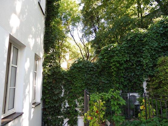 Hotel 16: Der schöne Garten von unserer Terasse aus.