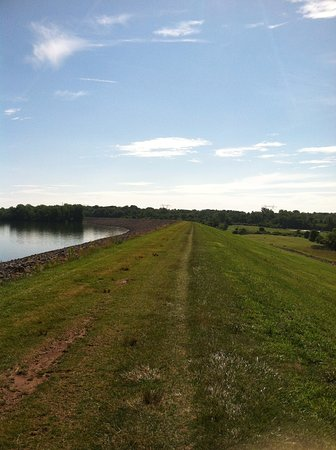 Delaware, OH: From the Dam Walkway heading away from the dam towards Africa Road