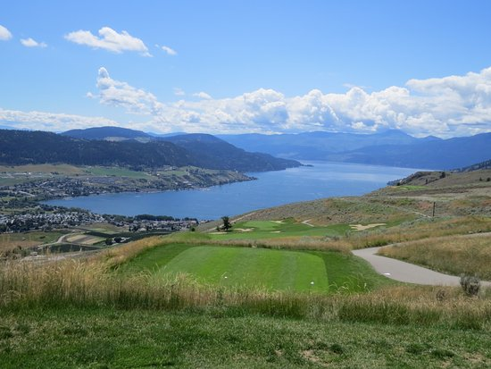 Vernon, Canada: View from 17th hole (I think), Okanagan Lake