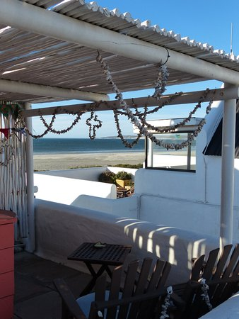 Paternoster, Sydafrika: The small roof terrace of the Trappiesklip room