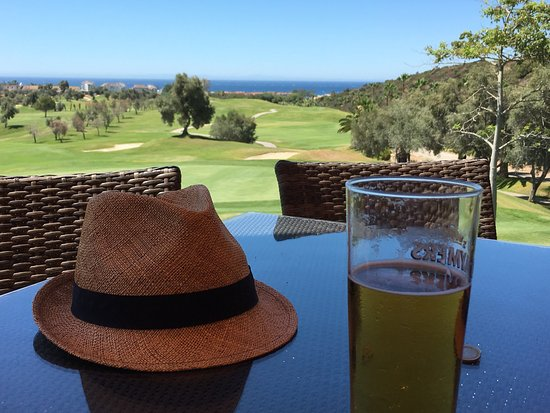 Marbella Golf & Country Club: View from terrace down the 18th
