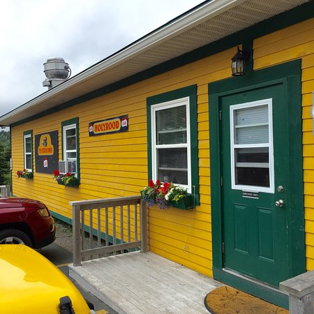 Holyrood, Canada: A very charming building that echoes the colour scheme of an old Newfoundland Railway Station.