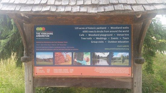 Castle Howard, UK: Information Board