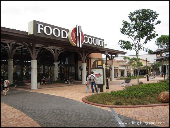 Kulai, Malasia: food court