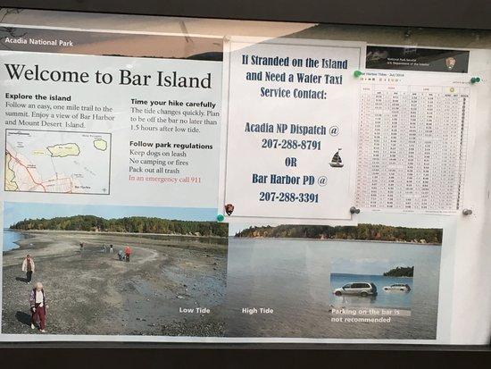 Land Bridge to Bar Island : Overview of Bar Island - some good advice!