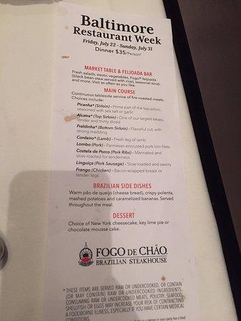 Fogo De Chao Nyc Restaurant Week