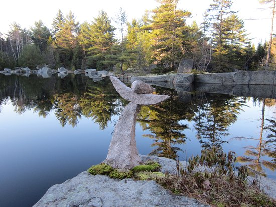 Sullivan, ME: Angel of the Granite Garden Quarry.