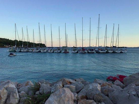 Murter, Chorwacja: Rafting in BBQ Bay