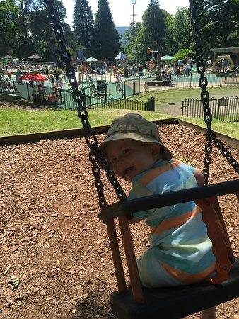 Merthyr Tydfil, UK: Adventure playground and splashpark at Cyfarthfa Castle