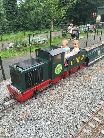 Merthyr Tydfil, UK: Narrow gauge train at Cyfarthfa Castle
