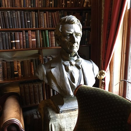 Seward House Museum: Bust of William Seward inlibrary